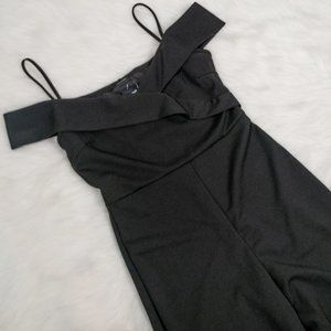 Rue 21 Black Cold Shoulder Jumpsuit